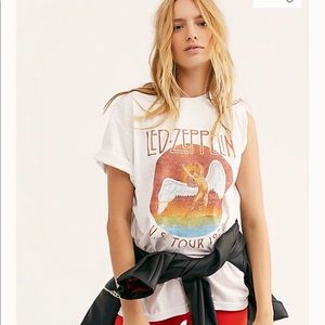 Tops - Led Zeppelin Band Tee Shirt